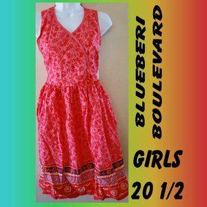 GIRLS PLUS SIZE SUMMER OPEN BACK SUN DRESS